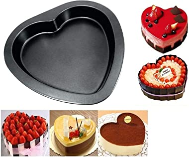 Bhavyam Heart Shape Cake Moulds for Baking Cake Moulds for Microwave Oven Non Stick Carbon Steel Cake pan Baking Tray Mould 1