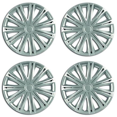 "Rhino Automotive© 16"" Spark Silver Car Wheel Trims Cover Hub Caps X4 RW1810"