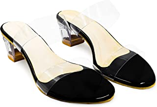 Zz fashion woman and girl heel transperent casual sandal