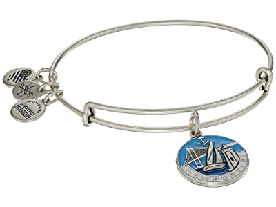 Alex and Ani Places We Love Newport III Bangle (Rafaelian Silver) Bracelet