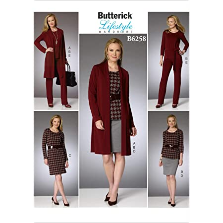 Gr/ö/ßen XS/ /X-Large Butterick Patterns 6498/Miss Misses//Damen Top und Hosen Schnittmuster Mehrfarbig