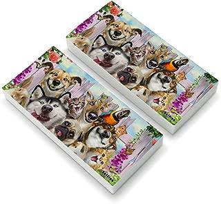 Pet Animals Selfie Dogs Cats Rabbit Hamster Guinea Pig Eraser Set of 2