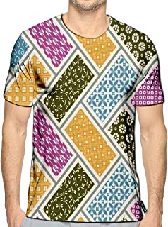 3D Printed T-Shirts Japanese Traditional Quilting Short Sleeve Tops Tees