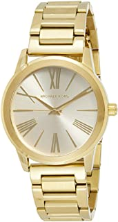 Michael Kors Womens Hartman Goldtone 3 Hand Watch