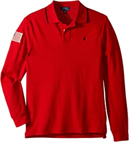 Polo Ralph Lauren Kids - Cotton Mesh Long Sleeve Polo (Big Kids)