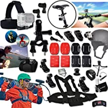 $27 Get Xtech® In-Motion SPORTS Mounts ACCESSORIES Kit for GOPRO HERO4 Session, HERO4 HERO 4 3+ 3 2 1 Hero4 Hero3 Hero2, Hero 4 Black, Hero 4 Silver, Hero 3 White, Hero 3 Black, Hero 3 Silver, Hero 960, Surf HERO Includes: Bike Handlebar Mount + Head Strap Mount + Chest Strap Mount + 2 J-Hooks + Helmet Harness Mount + Camera Wrist Mount + 2 Flat Adhesive Stickers + Flat Surface Mounts + 2 Curved Adhesive Stickers + Curved Surface Mounts + Remote Control Wrist Strap + Assorted Clips and Mounts