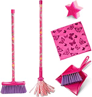 6Pcs Mini Dustpan and Brush Set for Kids Plastic Small Broom and Mop for Desk Cleaner Mini Sweeping Cleaning Set
