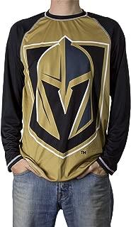 NHL Mens Long Sleeve Performance Active Wear Rash Guard Shirt