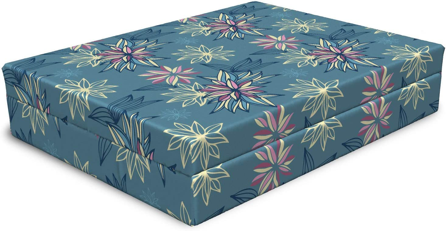Washington Mall Lunarable Floral Dog Bed Soft Cheap mail order sales Romantic Classica Exotic Abstract