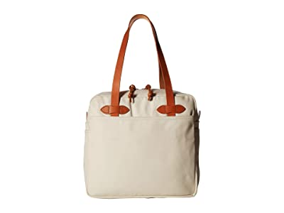 Filson Tote Bag with Zipper (Natural) Tote Handbags