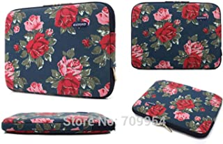Lorachun Laptop Bag Case Sleeve Pouch 11 13 13.3 14 15 17 Women Men PC Notebook Cover for MacBook HP Acer Dell Asus 5 Style Can be Choose Color : Flower, Size : 15-inch