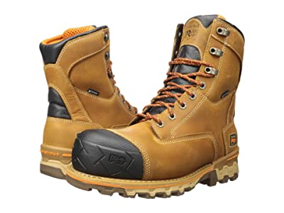 Timberland PRO 8 Boondock Composite Safety Toe Waterproof Insulated (Wheat Distressed) Men