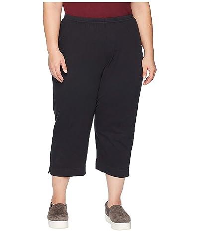 Fresh Produce Plus Size Jersey Capri Pants (Black) Women