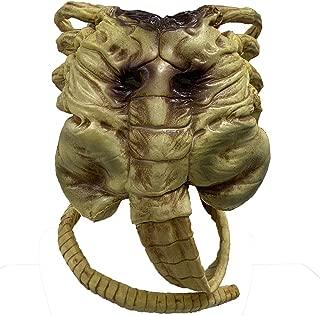 ZMJ Alien Facehugger Mask Face Hugger Halloween Costume Scary Prop Latex Yellow