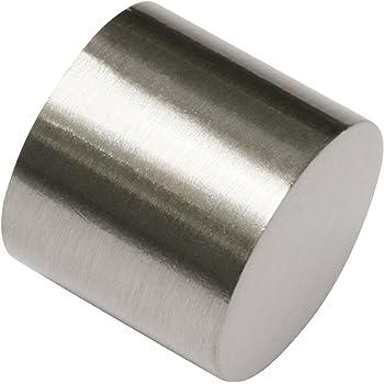 Effetto Acciaio Inox Metallo /Ø 20 mm Gardinia 10011166 Terminale Siro per Asta 2 unit/à