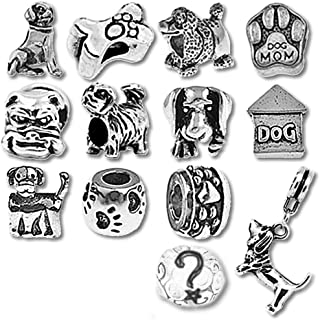 European Charm Bracelet Charms and Beads For Women, DIY Jewelry, Puppy Dog