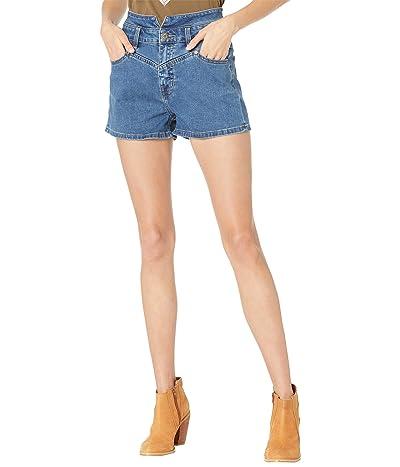 Rock and Roll Cowgirl High-Rise Denim Shorts in Medium Wash 68H8203 Women