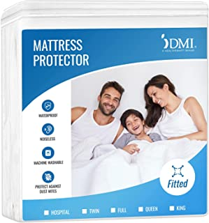 DMI Hypoallergenic Contoured Plastic Mattress Cover Protector for Incontinence, Spills, Bed Bugs, Washable Waterproof, Que...