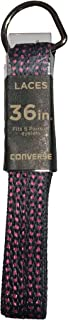 Unisex Replacement Cord Shoe Laces Flat Style Shoelaces (Black Pink Polka Dot, 36)