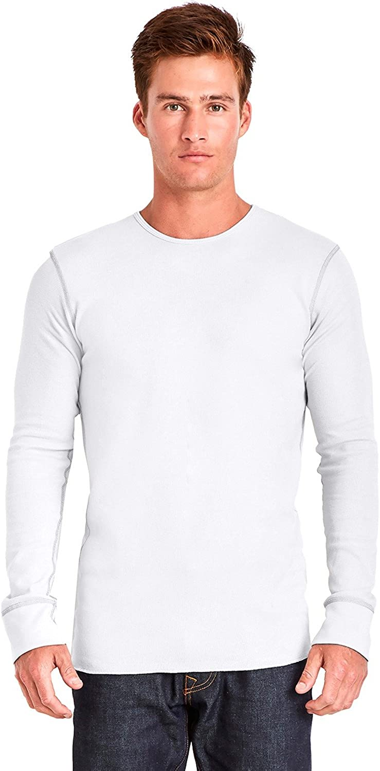 Next Level Adult Long-Sleeve Thermal - White/Gray - L - (Style # N8201 - Original Label)