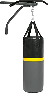 Best Choice Products 52lb Hanging Heavy Punching Bag for Fitness, Training, Boxing w/Wall-Mount Rack, Pull Up Bar