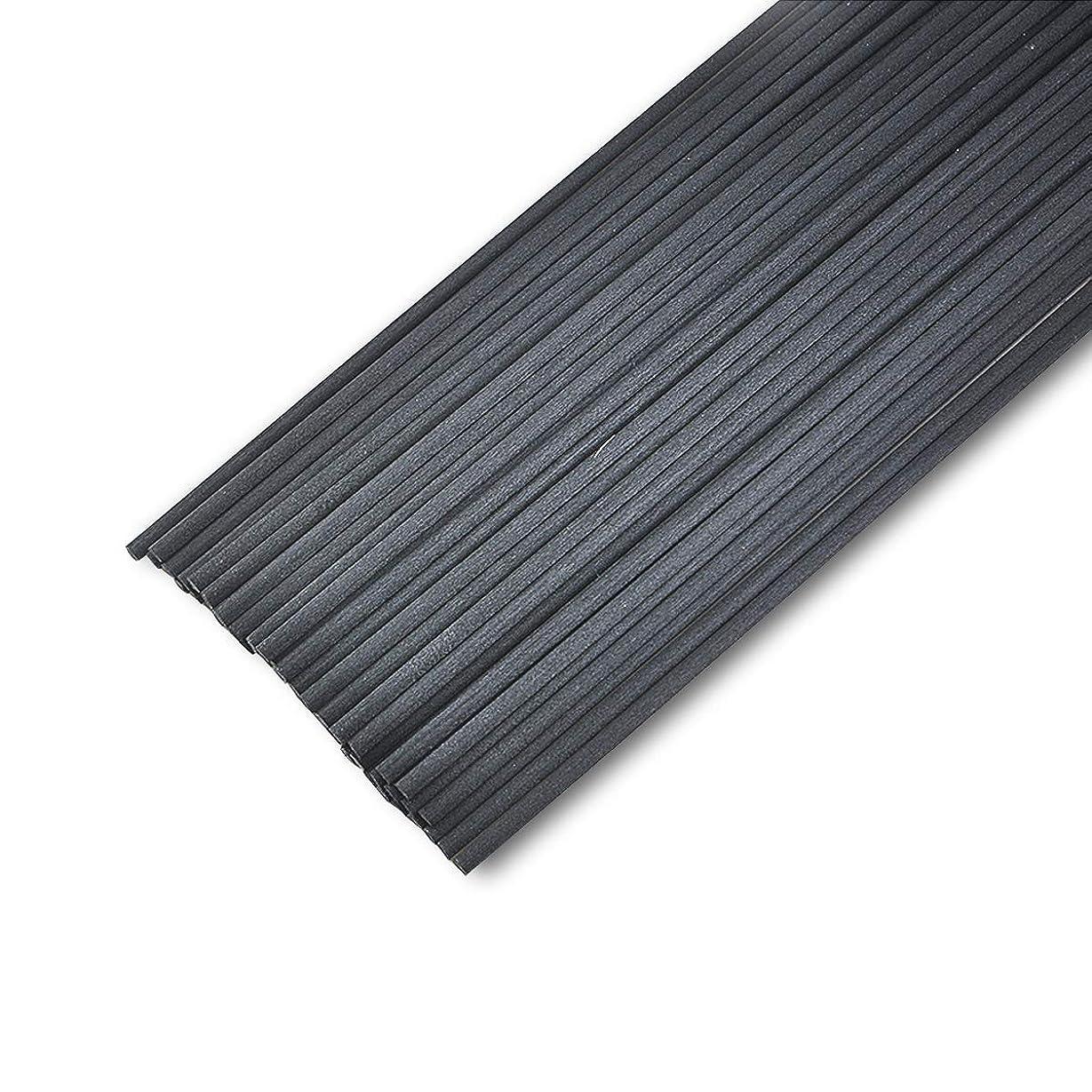 定義着る適応的50本入アロマファイバーディフューザー交換用スティック(20cm*3mm,黒)