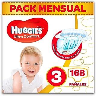 Huggies Ultra Comfort Pañales Talla 3 (4-9 Kg) - 168 Pañ