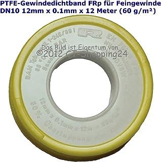 ALEMIN Gewindedichtband der Rollen-10pcs PTFE-Gewindedichtb/änder PTFE-Teflonband f/ür Wasserleitungs-Klempnerarbeit-Dichtungs-B/änder Lot