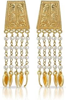 izaara Gold 92.5 Sterling Silver Hallmark Ethnocontemporary Fancy Earrings for Women