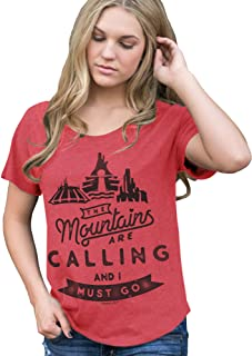 Womens Mountains are Calling and I Must Go T-Shirt