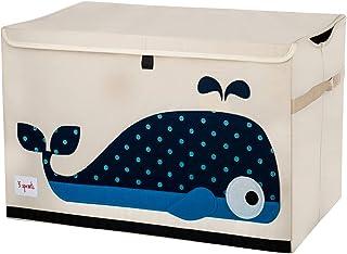 3 Sprouts - Coffre à jouets pour enfants - Coffre de rangement pour la chambre des garçons et des filles, Baleine