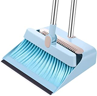 WSJTT Dustpan Cleans Broom Combo Long Handle for Home Kitchen Room Office Lobby Floor Use Upright Stand Up Broom and Dustp...