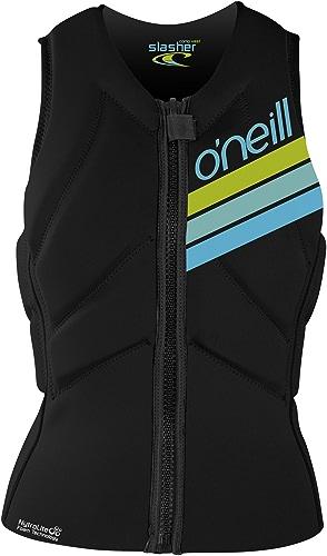 O';Neill femmes Slasher Kite Sports Nautiques Sports Nautiques Jetski Wetsboard Safety Impact Gilet - Noir - Minimal Bulk Design