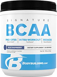Bodybuilding Signature BCAA Powder | Essential Amino Acids | Nutrition Supplement | Promote Muscle Growth and Recovery | 3...
