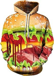 Chaos World Men's Novelty Hoodie Halloween Realistic 3D Print Pullover Unisex Casual Sweatshirt