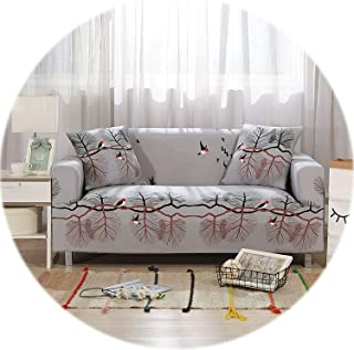 New face Plaid Sofa Cover Elastic Sofa Covers for Living Room Stretch Sofa seat Cover Slipcovers for Armchairs Sofa Set Couch Cover 1PC,Color 1,1-Seater(90-140cm)