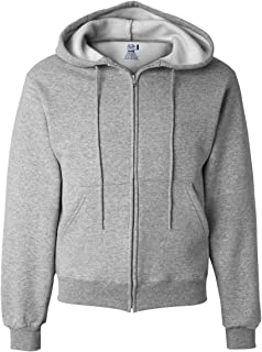 12 oz. Supercotton 70/30 Full-Zip Hood, L, ATHLETIC HEATHER