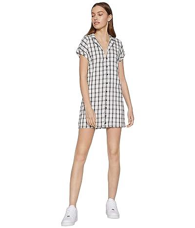 BCBGeneration Day Short Sleeve Woven Dress TSD6271512 (Off-White) Women