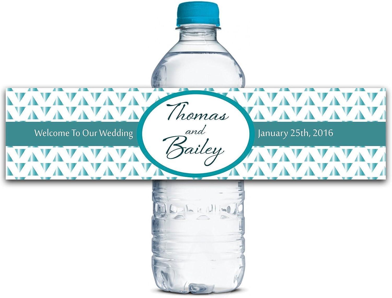 Personalisierte Wasserflasche Etiketten Selbstklebende wasserdichte Kundenspezifische Hochzeits-Aufkleber 8  x 2  Zoll - 50 Etiketten B01A0W0B7O  | Fein Verarbeitet