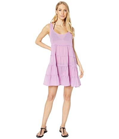 Kate Spade New York Solids Tiered Cover-Up Dress (Candied Lilac) Women