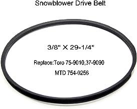 Hakatop Snowblower Drive Belt Replacement Fits Toro 75-9010,37-9090,MTD 754-0256 (3/8