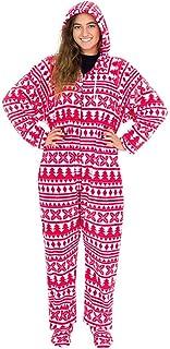 Monos Invierno Pijama de Mujer de Forro Polar Suave, Mono de Estampado de Patrones Lindos, Jumpsuit de Una Pieza para Mujer con Capucha de Cordón