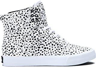Supra Footwear - Skytop High Top Skate Shoes, Spot-White, 11 M US Women/9.5 M US Men