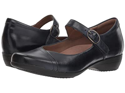 Dansko Fawna (Navy Burnished Calf) Women