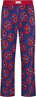 Marvel Deadpool Icon Repeat Print Blue Lounge Pant Pyjama Bottoms by Re:Covered