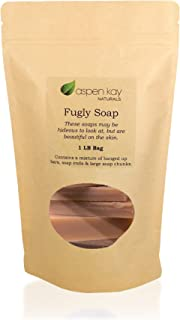 Turmeric Soap, 1 Pound Bag of Fugly Soap, a Mixture of Banged Up Bars, Soap Ends & Soap Chunks. 100% Natural & Organic Soap. (Turmeric)