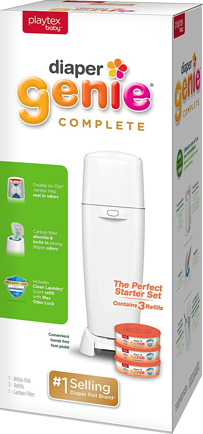 Playtex Diaper Genie Complete Pail depot Built with in Controllin Odor Fees free
