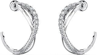 Swarovski Twist Rows Women's Mini Hoop Pierced Earrings