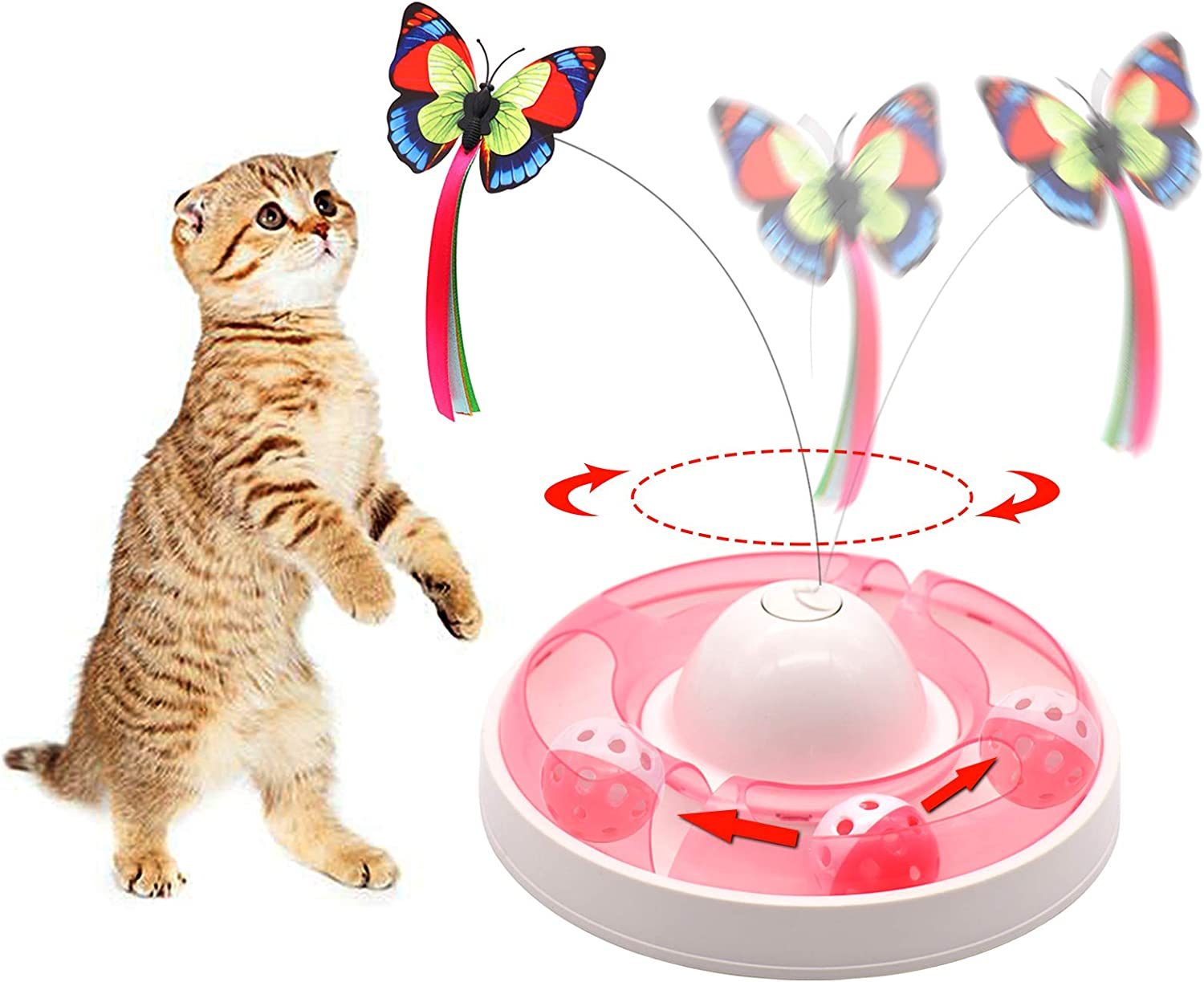 Max 83% OFF Interactive Cat Toys Regular dealer for Indoor Electronic Rotati Automatic Cats