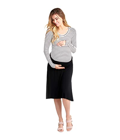 NOM Maternity Nola Maternity Skirt (Black) Women